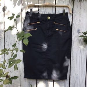 Express black, high-waisted, pencil skirt 💀